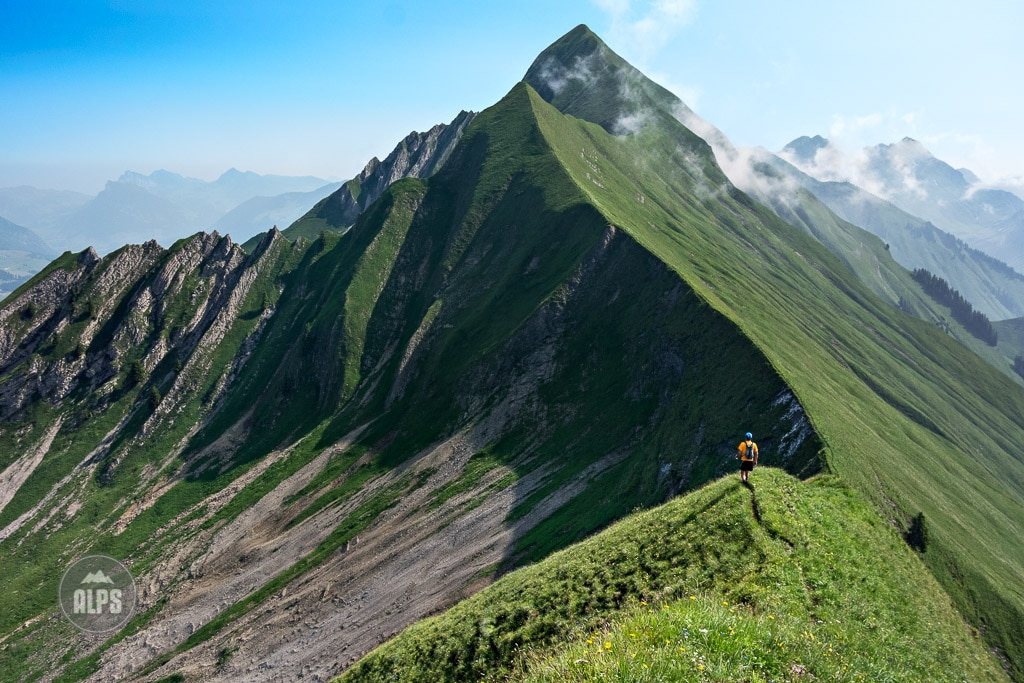 Hiking the Hardergrat. Interlaken, Swiss Alps