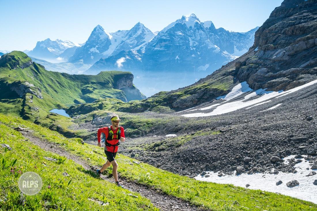 running or hiking lauterbrunnen to kandersteg, switzerland