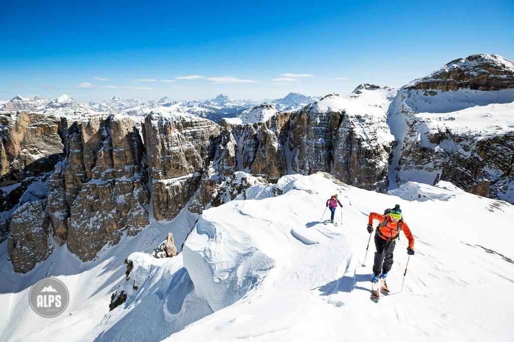 Ski touring Dolomites