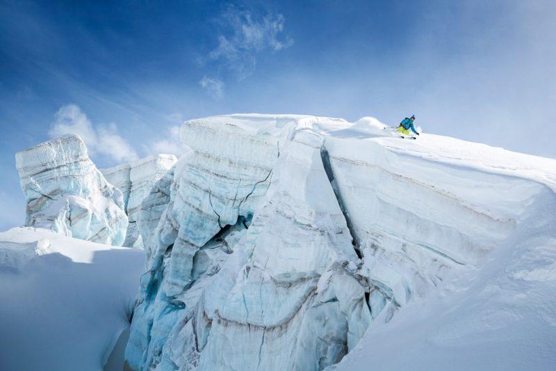 Skiing the Schwarztor ski tour, Zermatt