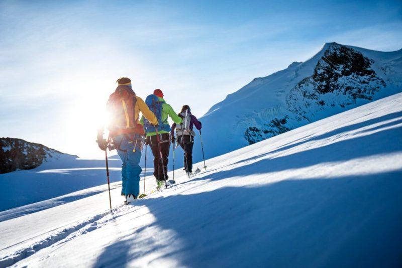 skiing the 4000er Bishorn