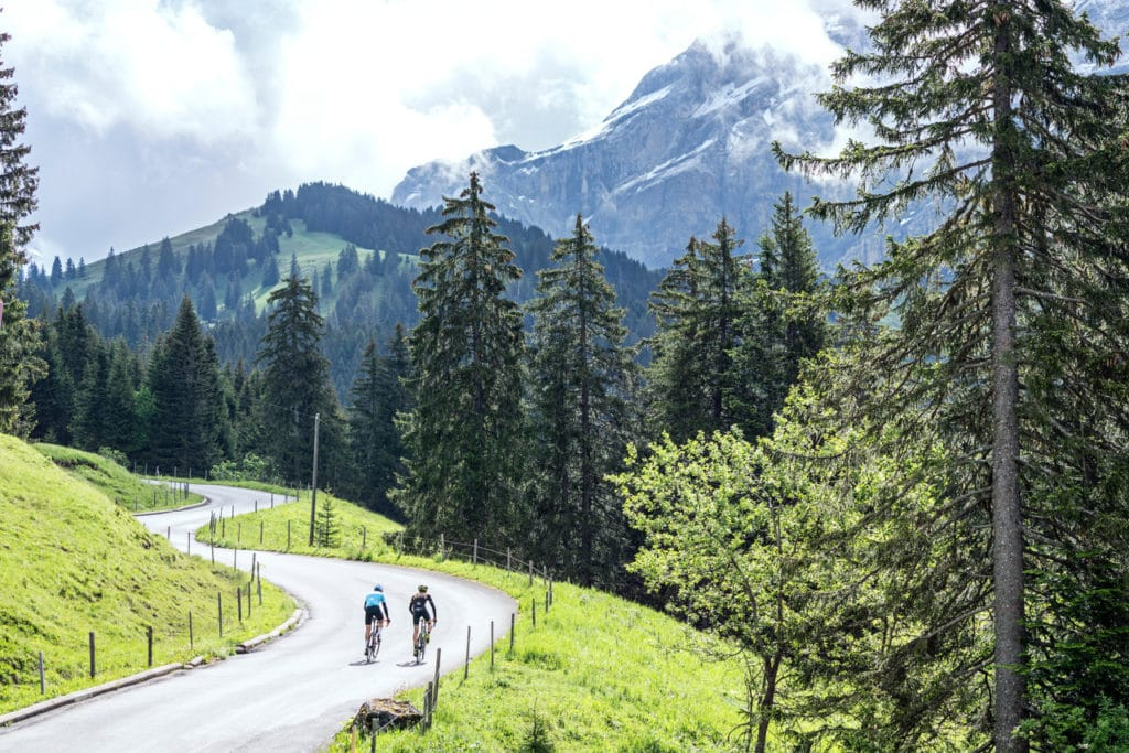 Nearing the top of the Col de la Croix in the Alpes Vaudoises