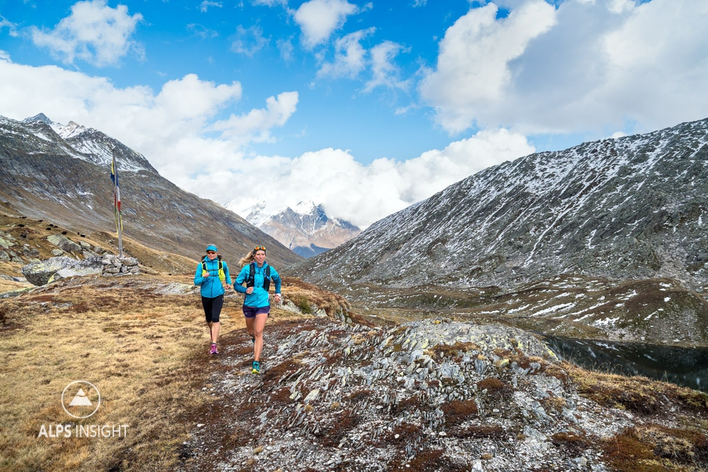 Trail running in the Ritom Lakes area, Switzerland