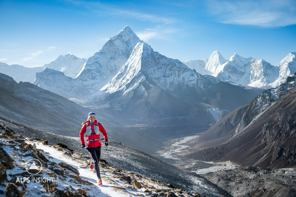 Trail running the 3 Passes Tour, Khumbu Region, Nepal