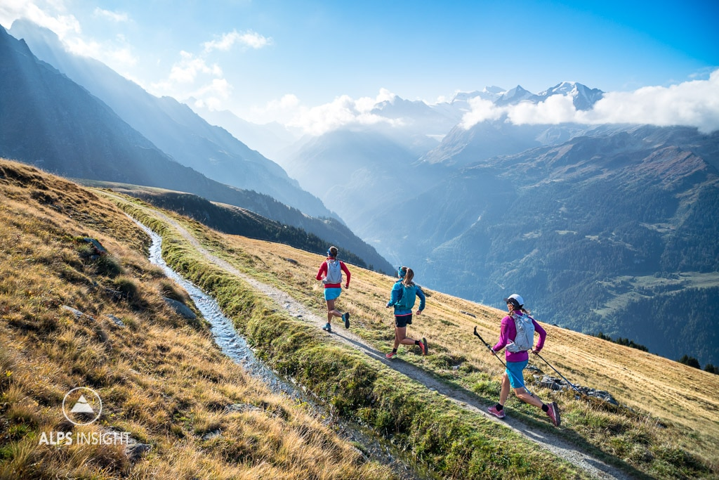 Trail running the Via Valais, Verbier