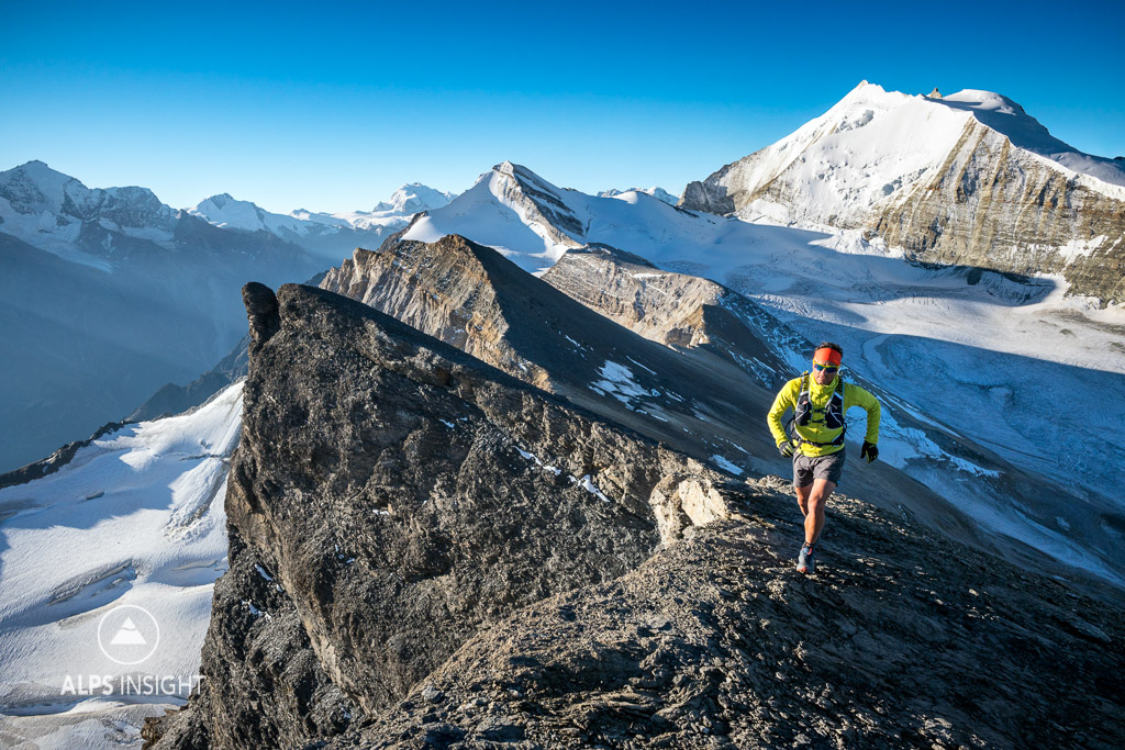 Trail running the Via Valais, the Barrhorn