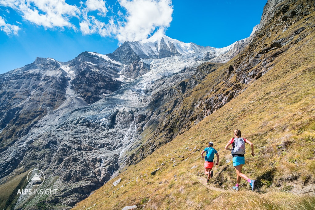 Trail running the Via Valais, Zermatt