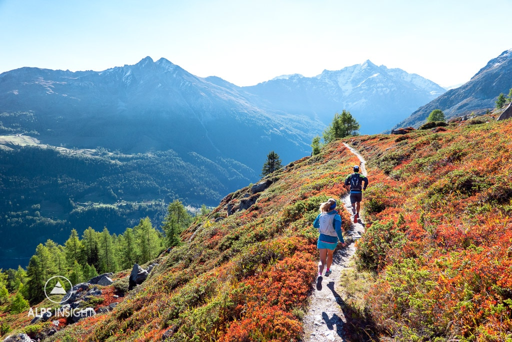 Trail running the Via Valais
