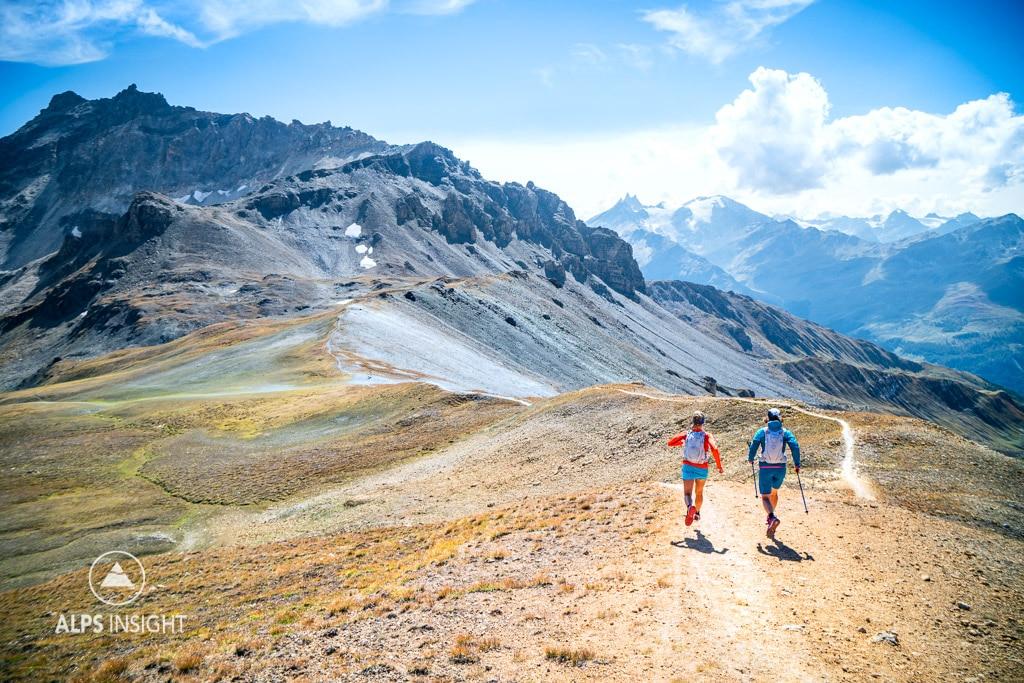 Trail running the Via Valais, Evolene