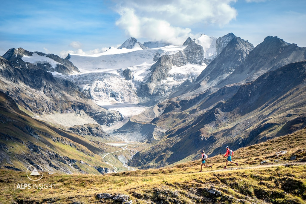 Trail running the Via Valais, Lac de Moiry