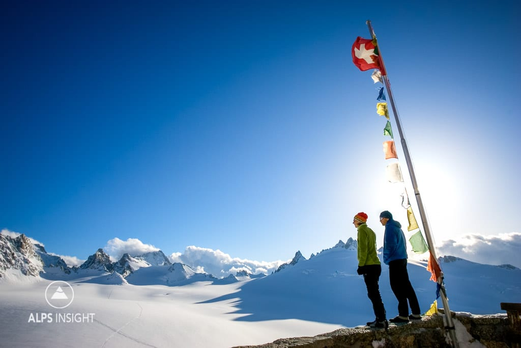 Ski touring on the Berner Haute Route