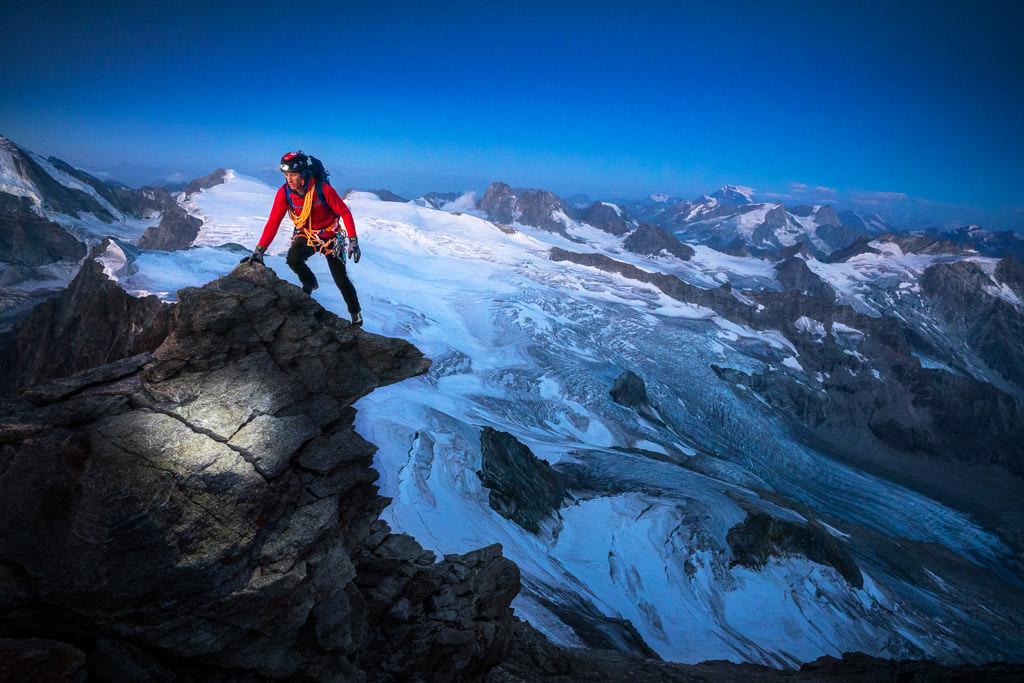 Ski touring on the Berner Haute Route
